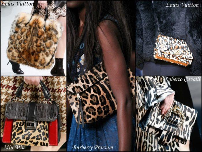 сумки с леопардовым принтом, фото