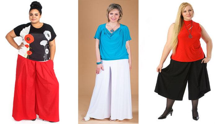 юбка - брюки для полных, фото
