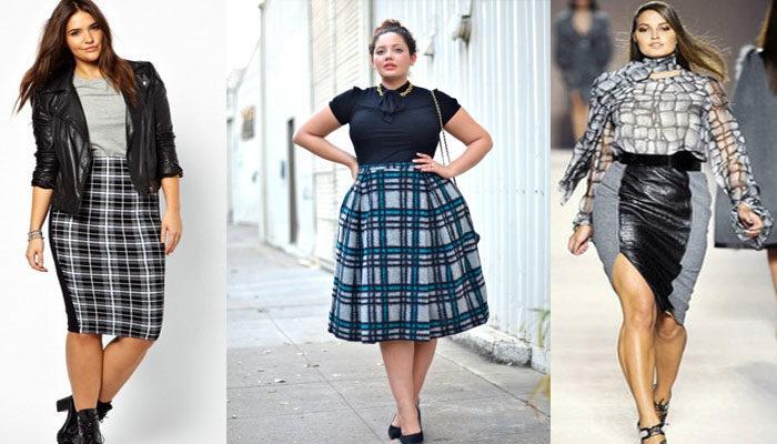 длинные юбки для полных девушек, фото