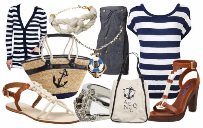 морской стиль в одежде, фото