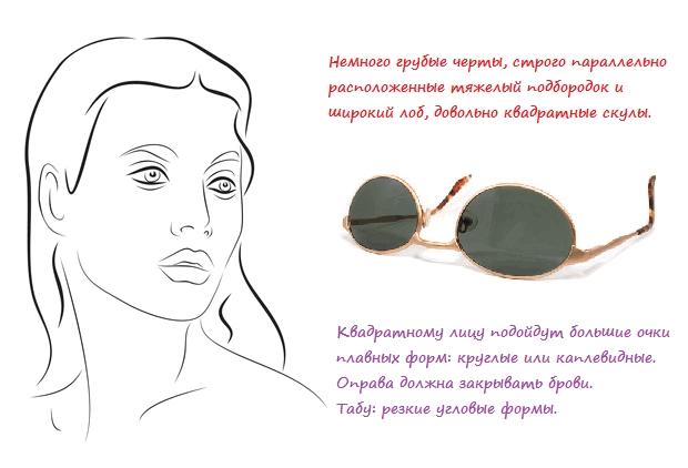 очки для квадратного лица, фото
