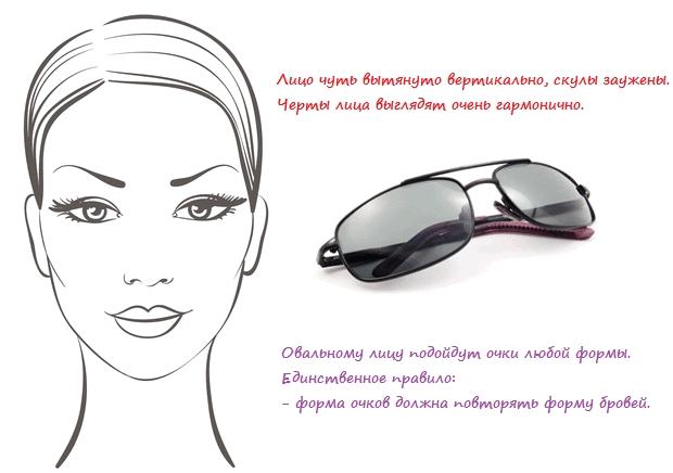 очки для овального лица, фото