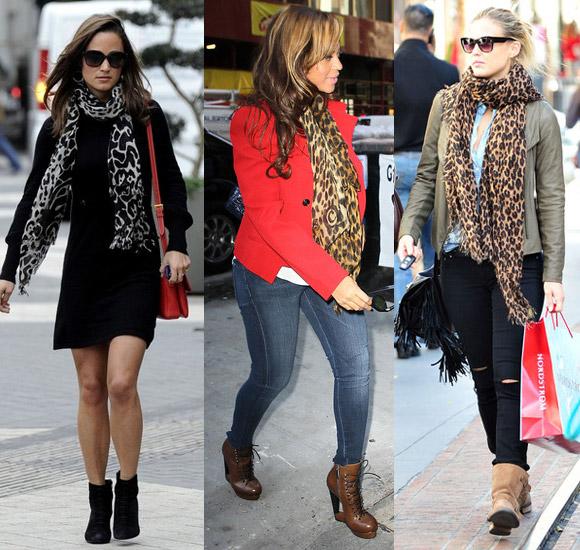 С чем носить леопардовые аксессуары