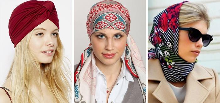 шарф на голове, фото