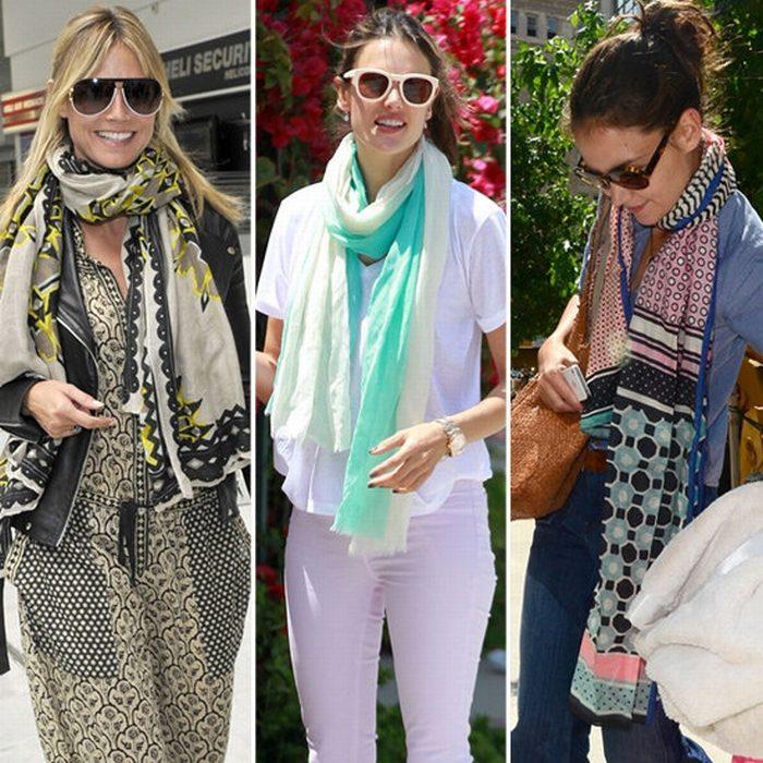 шарф летом, фото