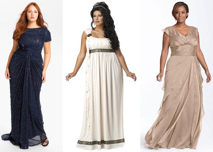 платья в греческом стиле для полных, фото