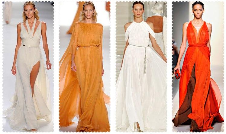 Сшить платье в пол в греческом стиле