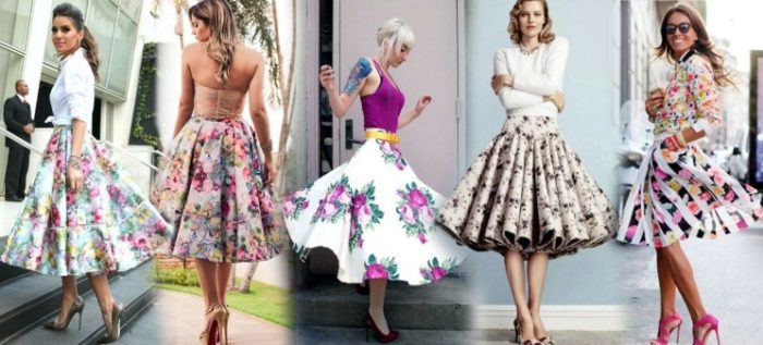 С чем носить юбку миди цветную