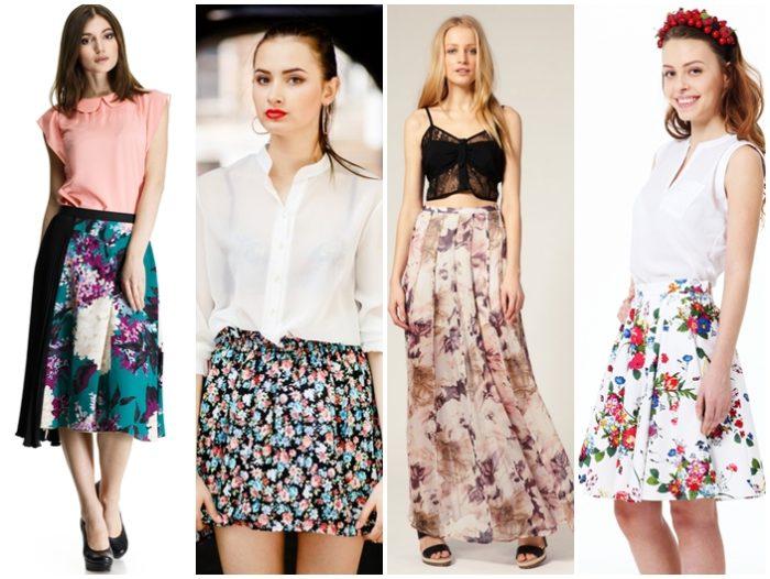 754365cd718 Юбка с цветами с чем носить и как правильно ее сочетать – Блог о рукоделии  и моде