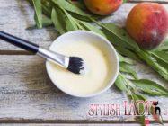 Маска-лифтинг из персика и сливок
