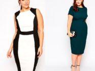 Варианты офисных и деловых платьев и костюмов для полных женщин