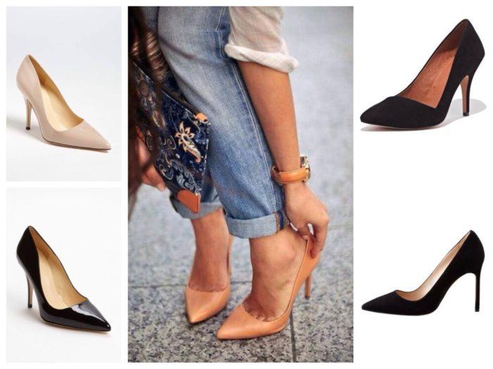 классические туфли лодочки в базовом гардеробе