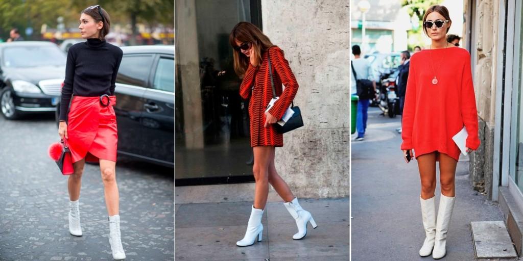 Что носить к белым каблуками