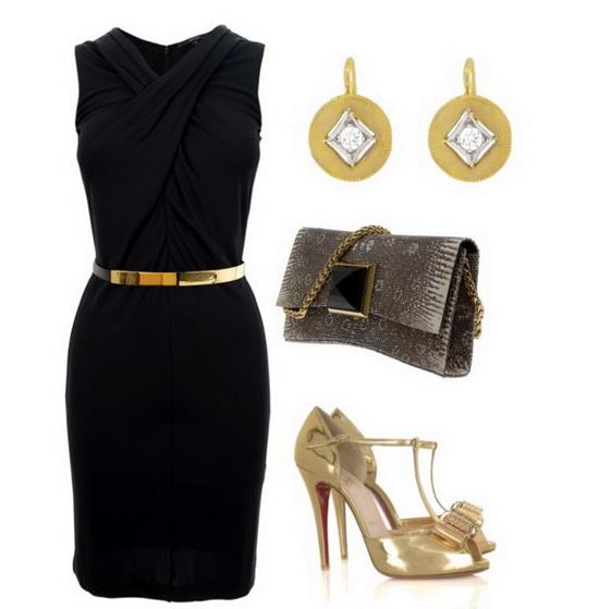 черное платье футляр, фото