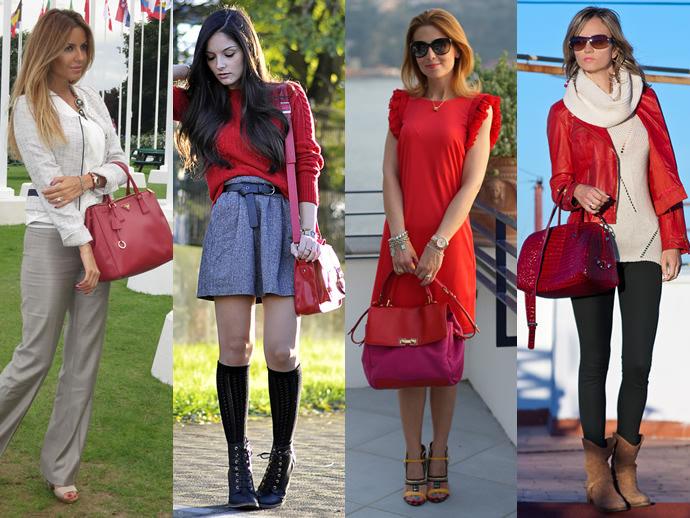 Красная юбка осенью с чем носить фото