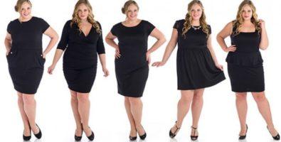 Маленькое черное платье для полных — найди свою модель!
