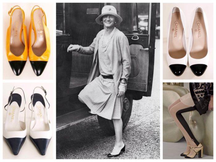 обувь в стиле Коко Шанель, фото