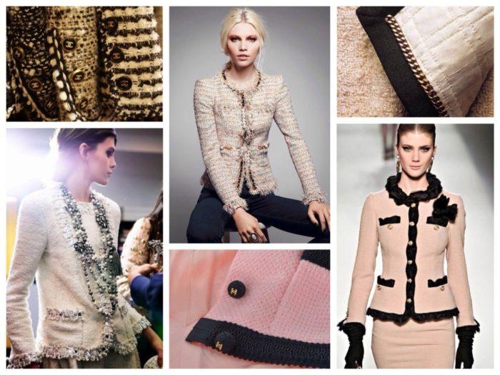 пиджаки и жакеты в стиле Коко Шанель, фото