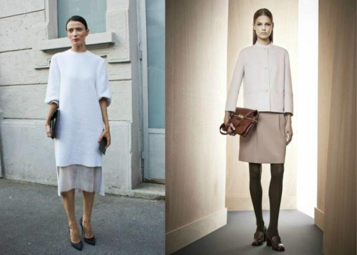 юбки и кофты в стиле минимализм, фото