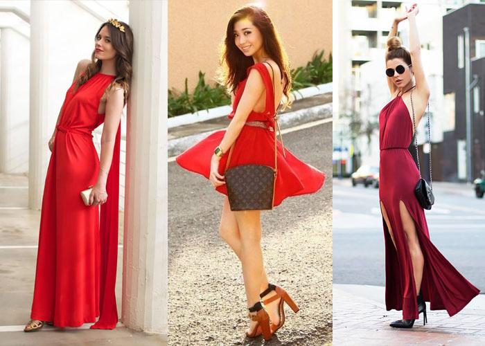 7d249338449 С чем носить красное платье  какие аксессуары подойдут