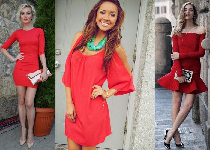 b0a22605ab9 С чем носить красное платье  какие аксессуары подойдут