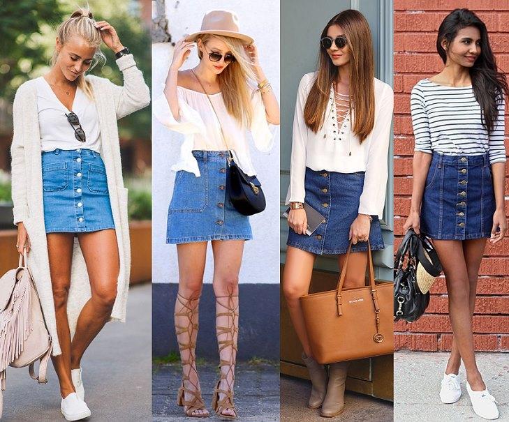 Как сделать старую джинсовую юбку модной