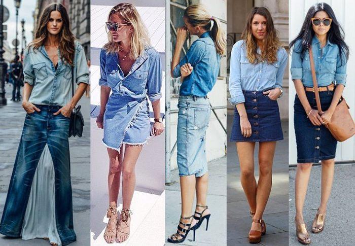 С чем носить джинсовую юбку: более 100 фото для модных образов