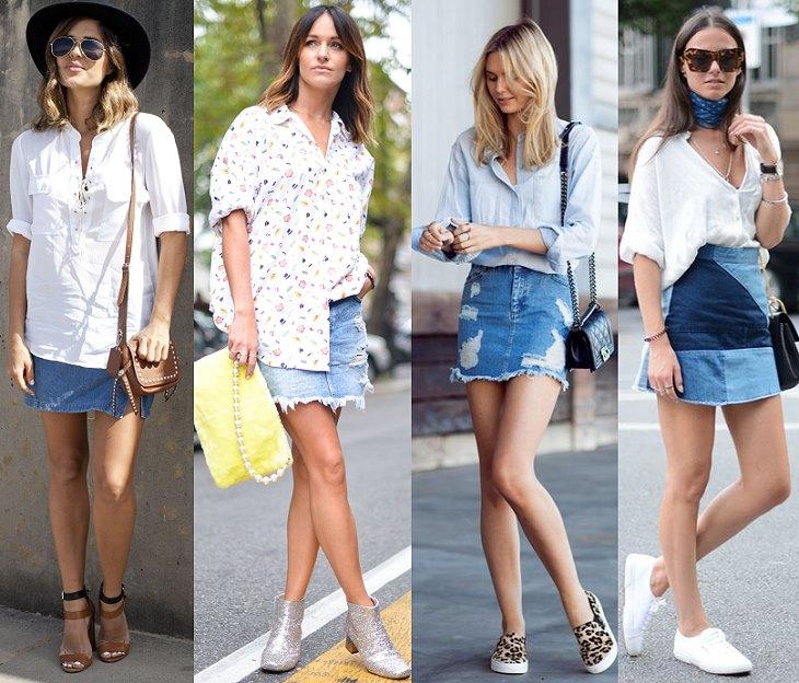 Купить юбку джинсовую с высокой талией