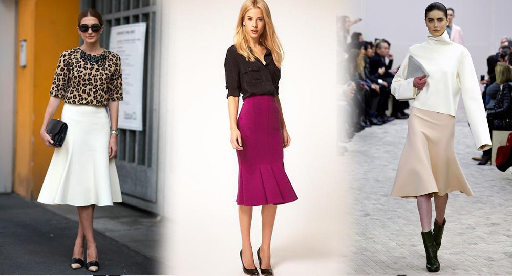 С чем носить юбку годе мини