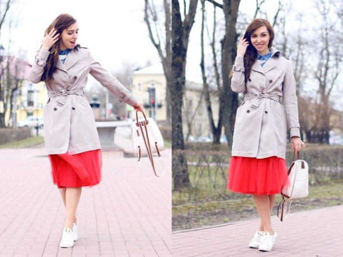 красная юбка - пачка, фото
