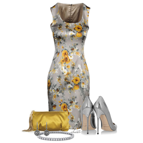 платье футляр с принтом, фото