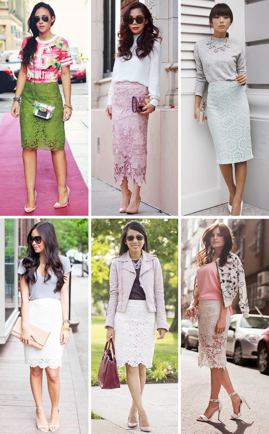 белая, розовая, зеленая кружевная юбка, фото