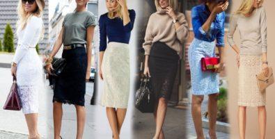 Кружевная юбка в гардеробе современной женщины. С чем её носить?