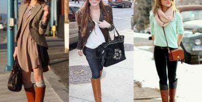 С чем носить рыжие сапоги: как эффектно составить наряд