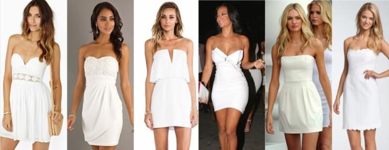 короткое белое платье, фото