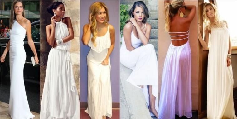 длинное белое платье, фото