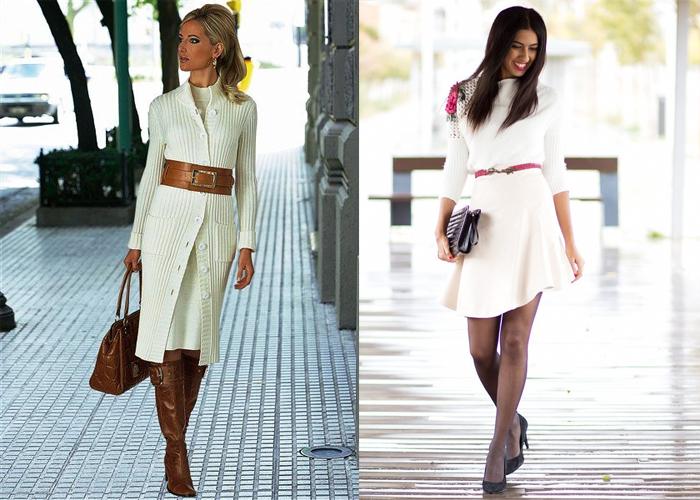 белое трикотажное платье, фото