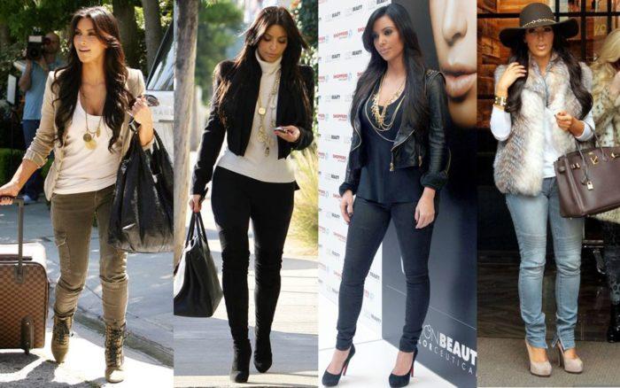 с чем носить узкие джинсы, фото