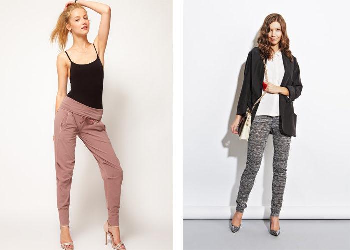 трикотажные узкие брюки, фото