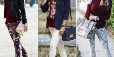 Узкие брюки: способы комбинирования с разными видами одежды