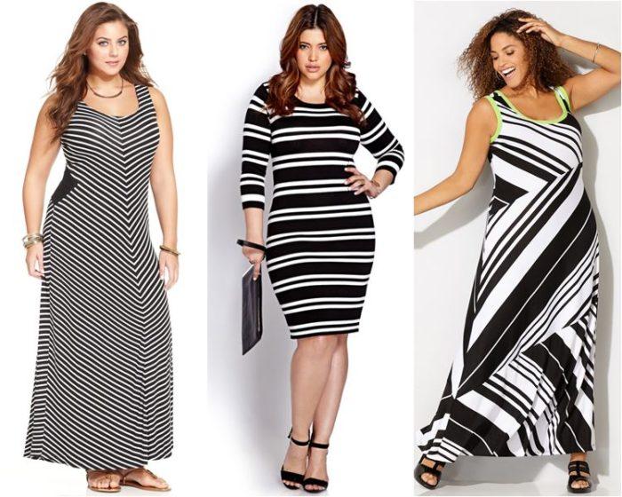Платье в полоску визуально сделает вас стройнее!