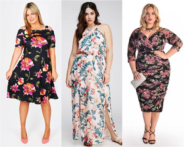 платья с цветочным принтом, фото