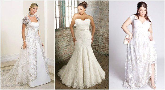 свадебные платья для полных, фото