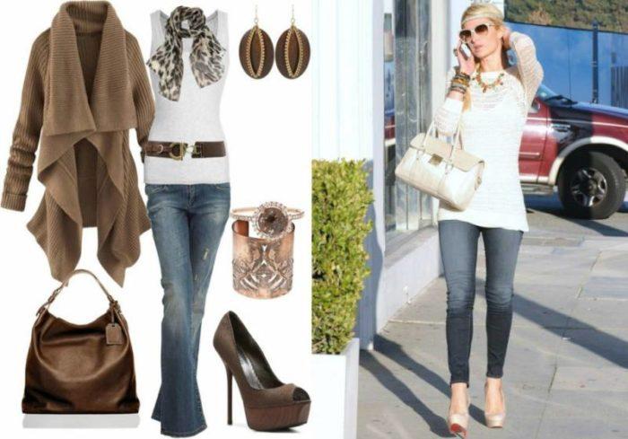 джинсы в стиле кэжуал (casual), фото
