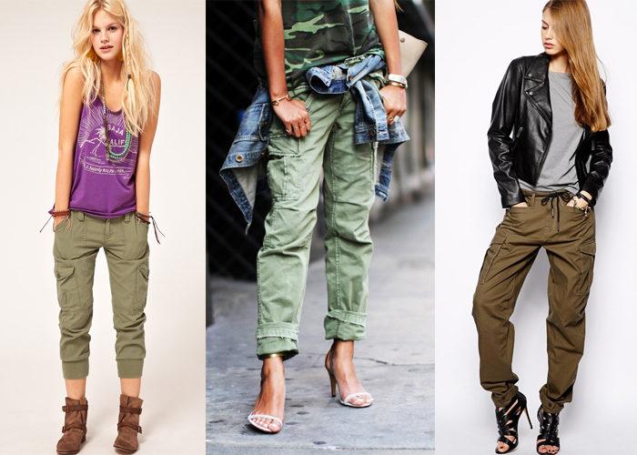 стиль карго в женской одежде, фото