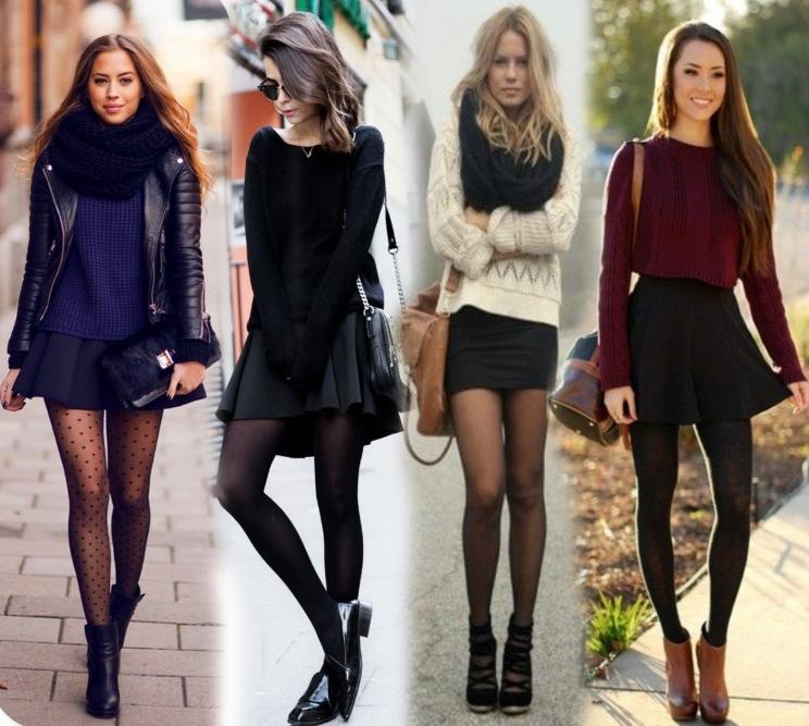 Обычная черная юбка