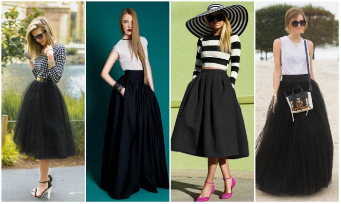 черная юбка - пачка, фото