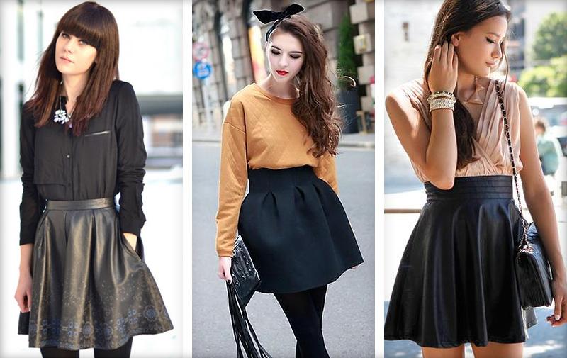 С чем носить черную обтягивающую юбку