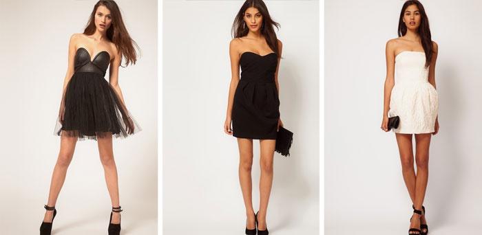 Платья без лямок короткие