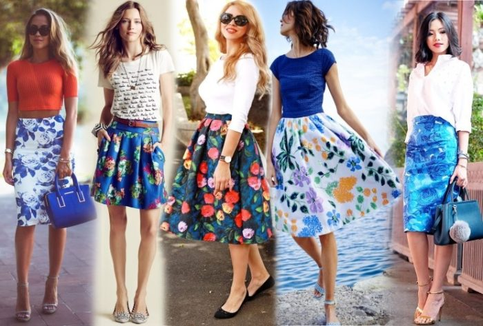 цветочные юбки, фото